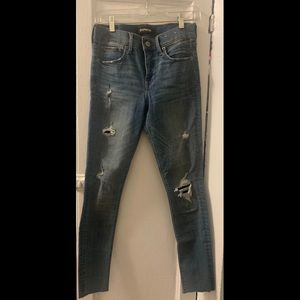 Express Cropped Ripped Jeans